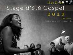 photo de stage d'été gospel