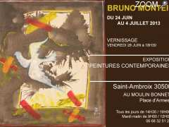photo de BRUNO MONTEIL EXPOSITION PEINTURES CONTEMPORAINES SAINT-AMBROIX 30500