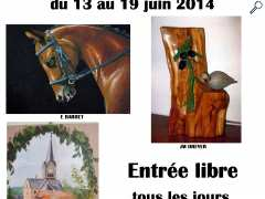 photo de Exposition de peintures et sculptures